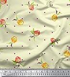 Soimoi Gelb Schweres Canvas-Gewebe-Blumen-Blumendekor