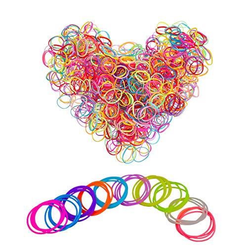 INTVN Jelly Bracelets Silicona Pulseras 40 Piezas & Banda de Goma Mini Elastics Hair Bands para niños 2000 Piezas