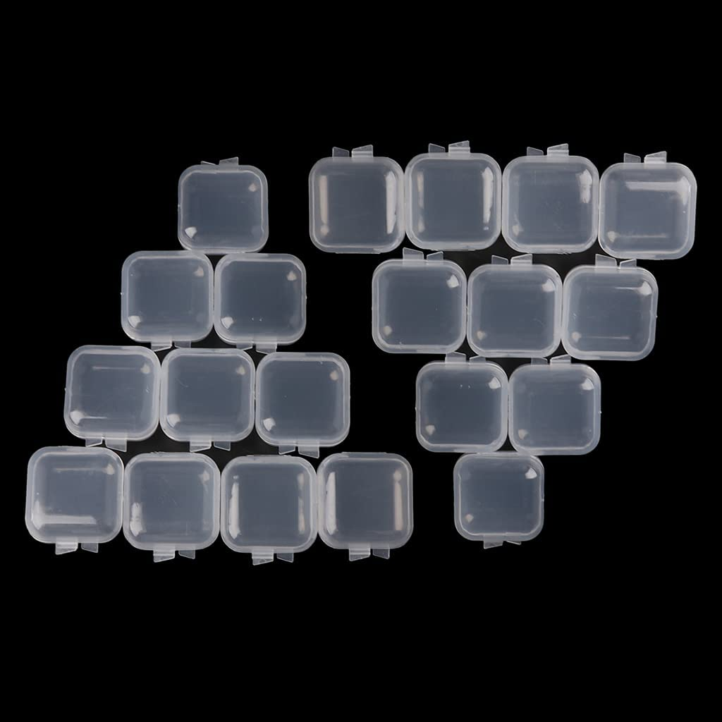 Y-YUNLONG Quantity limited 20Pcs Square service Mini Clear Box Storage Plastic Containers