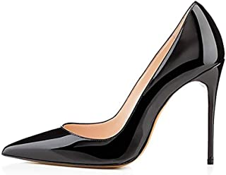 High Heel, 10cm/3.94 Inch Stiletto High Heel Shoes for Women Pointed Toe Party Evening Dress Pumps Prom