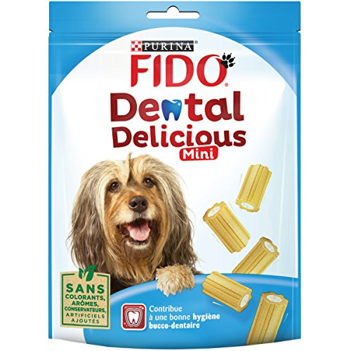 Fido Dental Delicious Mini Chew Bone Food for Dogs 130 g Pack of 6