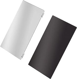 MERIGLARE Folha de aço com fotopolimerizável e folha magnética de 140x80mm para impressora 3D SLA/DLP, plana, dura e durável