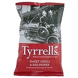 Tyrrells Cotto A Mano Patatine Inglesi - Peperoncino Dolce & Pepe Rosso (150g) (Confezione da 2)