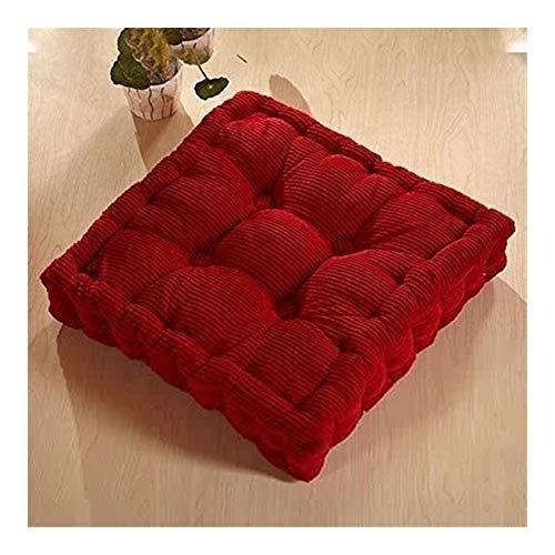 Piso amortiguador de la almohadilla del asiento, espesa el elástico meditación Almohada, Asiento sólido Color Amortiguación de planta cuadrada, cojín for silla de oficina en casa amortiguador trasero