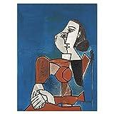 DFRES Picasso Pinturas Famosas Picasso Arte De La Pared Poster Abstracto De La Lona ImpresióN ArtíStica Cuadros De La Pared para La Salon De Estar Dormitorio Decoracion del Hogar 50x65cm Sin Marco