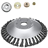 10. SYITCUN 8inch Weeds Trimmer Head Cutter Replacement for String Trimmers Wire Wheel Brush Steel Wire Grinder Brush for Angle Grinder Rust Paint Grass Weed Removal Multifunctional Tool