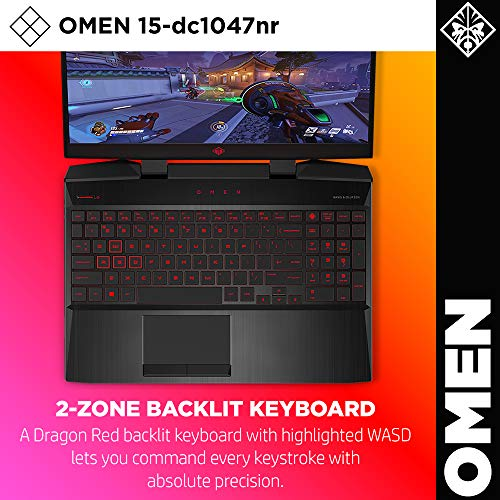 Omen by HP 2019 15-Inch Gaming Laptop, Intel i7-9750H Processor, GeForce RTX 2070 8 GB, 32 GB RAM, 512 GB SSD, VR Ready, Windows 10 Home (15-dc1047nr, Black)