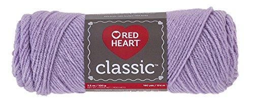 Red Heart 64769 Classic Yarn, Light Lavender