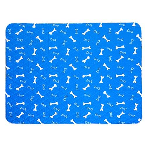 Freahap Almohadillas de Orina para Perro Reutilizables para Entrenamiento de Cachorros, Pañales de Perro Empapadores de Entrenamiento Impermeable Azul S