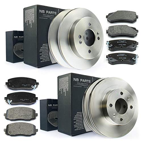 Bremsen/Bremsscheiben + Bremsbeläge vorne + hinten NB PARTS GERMANY 10043779