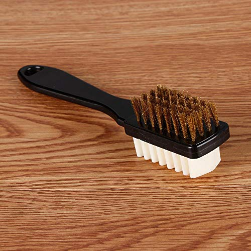 CKY 2-seitige Reinigungsbürste Gummi-Radiergummi-Set Passend für Wildleder-Nubuk-Schuhe Fleck Staubschuhe Bürste Kunststoff-Gummi-Stiefelreiniger, 17 * 3CM