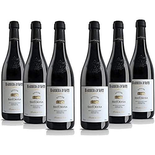 SantOrsola - Vino Rosso -Barbera dAsti D.O.C.G. Superiore - Pacco da 6 x 750 ml