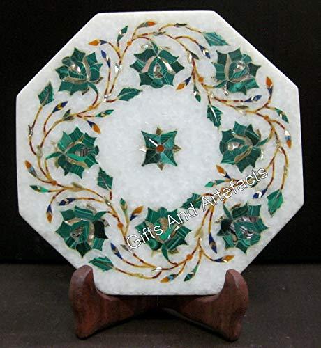 Heritage Art - Soporte para tetera (15,6 cm), diseño de piedra malaquita