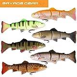 Savage Gear 3D Line Thru Trout Gummifisch Forelle, Kunstköder für Hecht, Zander, Waller, Angelköder zum Spinnfischen und Schleppangeln, Hechtköder, Zanderköder, Wallerköder, Welsköder, Forellenköder, Gummiforelle, Gummiköder, Farbe:Dark Brown Rainbow, Länge / Gewicht /Schwimmverhalten:30cm / 290g/ langsam sinkend