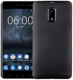 جراب هاتف Nokia 6 Silk Carbon Fibre TPU - أسود.