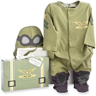Baby Aspen, Big Dreamzzz Baby Pilot Two-Piece Layette Set, Green, 0-6 Months by Baby Aspen