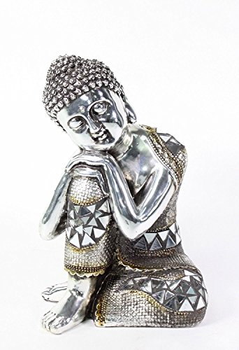 We pay your sales tax Feng Shui 6.5' Electroplated Resting Meditating Buddha Figurine Peace Statues India
