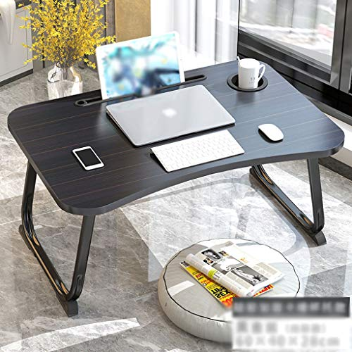 Lap Desk Folding Table with Cup Tray Learning Table Multifunctional Home Bedroom Dormitory Bed Table Bedroom Student's Small Table Notebook Table Laptop Desk (Color : G)