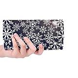 Borsa porta carte di credito personalizzata unica blu navy fiocchi di neve portafogli lunga borsa porta carte di credito