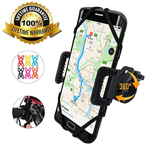 TruActive - PREMIUM EDITION! - Universal Bike Phone Holder Sport Gadget Mount - Bicycle, Motorbike, Mountain Bike, Road Bike - 360° Rotate - iPhone. Samsung, Huawei, Google, etc. - 6 COLOURS INCLUDED!