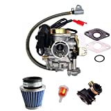 NEW 50CC CARBURETOR Performance Adjustable CARBURETOR with electric choke for 50cc 80cc GY6 Engines