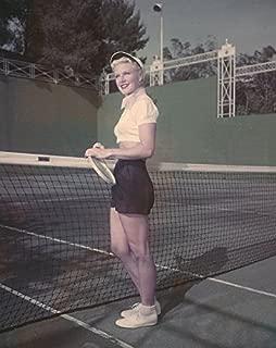 Ginger Rogers Vintage Original Color 5x4 Photo Transparency Slide Tennis Shorts