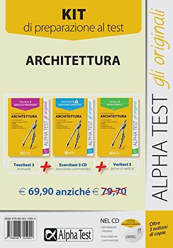 Alpha test . Kit 3 libri per i test di ammissione ad Architettura e ai corsi di laurea in Ingegneria edile (Manuale, esercizi, prove di verifica)