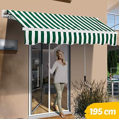 Impermeabile e Anti-UV Bianco per Esterni Outsunny 300 x 150cm Tenda da Sole Avvolgibile con Angolazione Regolabile