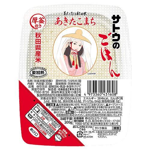 サトウ食品 サトウのごはん 秋田県産あきたこまち200g×20個入×(2ケース)