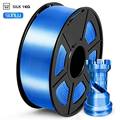 SUNLU PLA Silk Filament 1.75mm, 3d Drucker Filament 1.75 PLA 1KG Spool, PLA Silk Gold