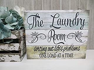Pancarte en bois pour buanderie The Laundry Room.sorting out life's problems one load at a time,Buanderie Decor