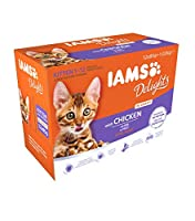 100% complete and balanced premium pet food for kittens. Balanced Nutrition & Healthy Digestion IAMS Delights Kitten with Chicken in Gravy 1-12 months 12 x 85g For Kittens 1-12 months Irresistible meaty taste your cat will love Healthy Digestion