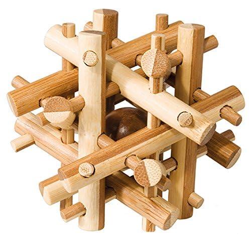 Fridolin - 17492 - Puzzle - Casse Tête Bambou - Bâton Magique - Niveau 2 Difficile