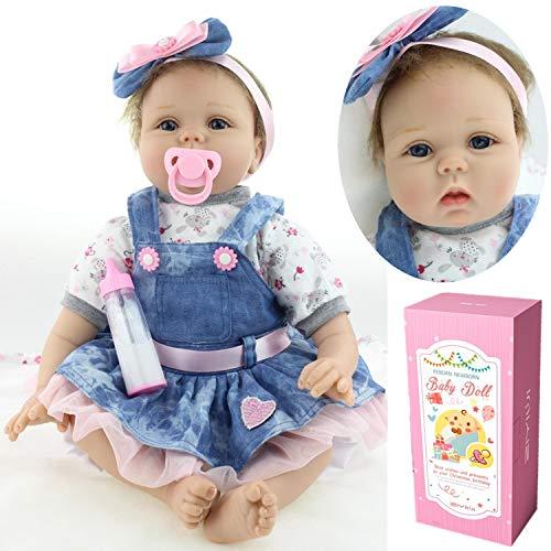"""ZIYIUI 22\"""" 55 cm Realista bebe Reborn Muñeca Vinilo Suave Silicona Niña Reborn Muñecos bebé Regalo de cumpleaños"""