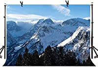 New Switzerland Mountains Backdrop 250×180cm Winter Braunwald Snow Mountains Nature Landscape Photography Background YouTube Photo Studio Prop Wallpaper LHST569