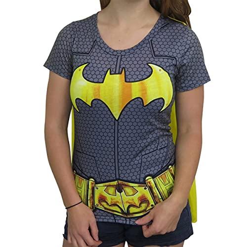 DC Comics Batman Suit Up Sublimated Juniors Caped T-Shirt...