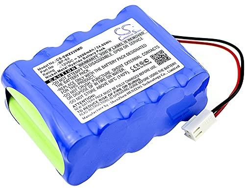 Batería de repuesto para Smiths Corporation TOP-5300, oben Spritzenpumpe 2200, TOP Infusion Pumps 2200, TOP Infusion Pumps 3300, 12V/2000mA