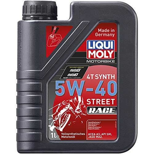 Liqui Moly 20074 Motorbike 4T Synthetic 5W-40 Race Engine Oil - 1 Liter