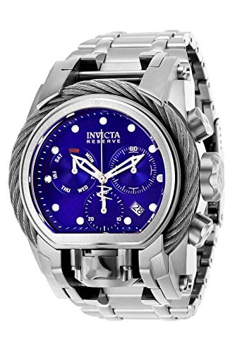 Invicta Reserve Herren-Armbanduhr, 52 mm, Bolt Zeus Magnum, Schweizer Quarzwerk, Doppel-Uhrwerk (Modell: 26583)