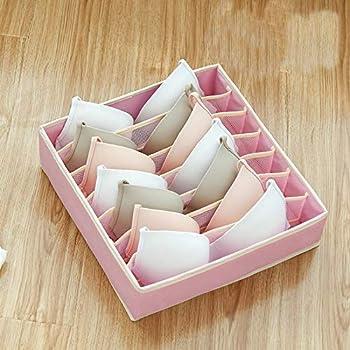 Party Girls S Bra - Caja de almacenamiento separada para sujetador, organizador de sujetadores, separadores, lencería, funda lavable, tela, Rosa, 32x32x10cm: Amazon.es: Hogar