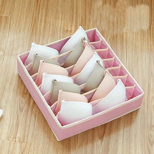 Party Girls S Bra - Caja de almacenamiento separada para sujetador, organizador de sujetadores, separadores, lencería, funda lavable, tela, Rosa, 32x32x10cm