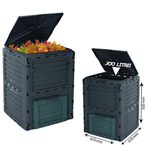 300l KOMPOSTER, Komposttonne für den Garten, umweltfreundlich, Bio-Müll-Konverter.