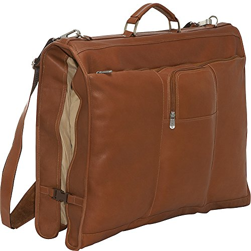 Why Should You Buy Piel Leather Elite Garment Bag, Saddle, One Size