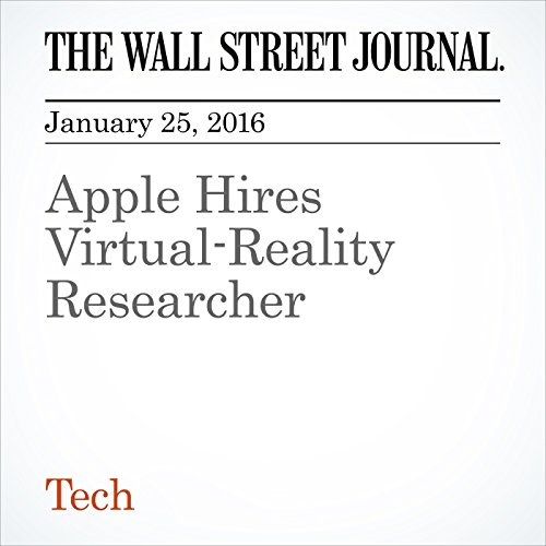 Apple Hires Virtual-Reality Researcher cover art
