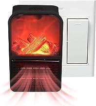 Fiaoen 500 W Mini Estufa Eléctrica Calefactor Portátil,Estufa Eléctrica,Simulación Llama Hogar Calentador,pequeño Calentador eléctrico de PTC para Cocina Personal Oficina hogar Nice