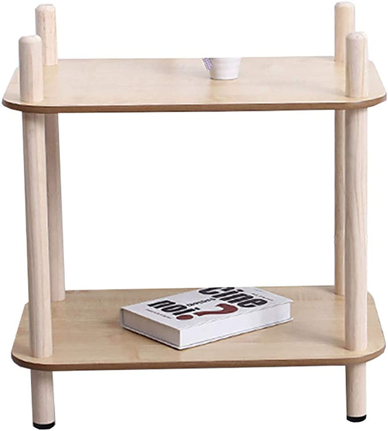 Nightstands Living Room Furniture Accent Sofa End Tables with Storage Rack with Rolling Casters Multipurpose Slide Espresso for Bedroom Parlor