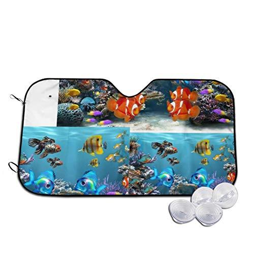 Underwater World Automotive Windshield Sunshades, Durable Auto Front Window Sun Shade Visor Shield Cover for Car Auto Truck SUV,