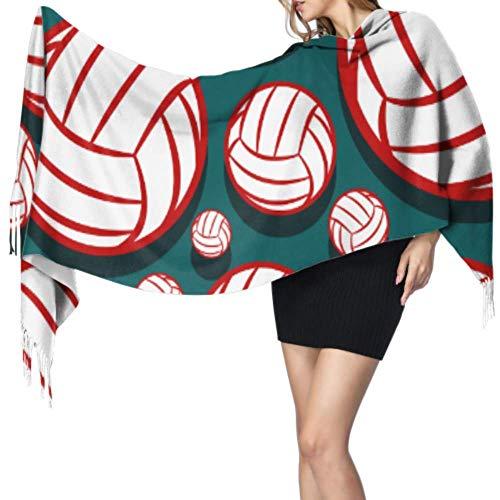 Yushg Intersting Happy Beach Volleyball Sport Bufanda ligera para mujer Bufanda para niñas Bufanda con flecos para mujer 77x27 pulgadas / 196x68cm Large Soft Pashmina Extra Warm