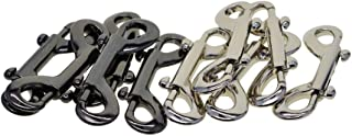 Lovoski Pack Of 10 Double Ended Metal Trigger Clips Car Key Chain Waist Hanging Keychain For Bags