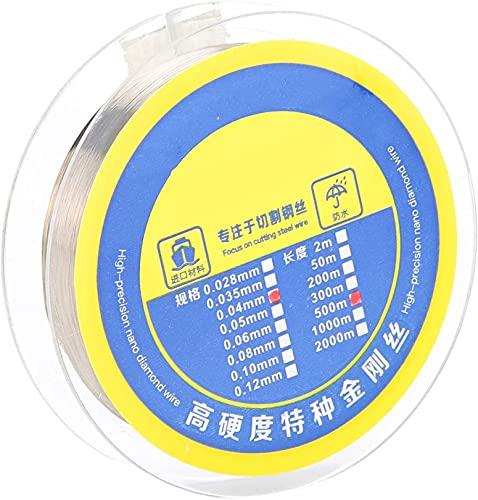 WWJ LCD Display Screen Separation Wire, 500m / 546.8yd Steel High Hardness Separator Reparo Fio de aço para Phone Screen Separation Fixing Maintenance (0.04mm)